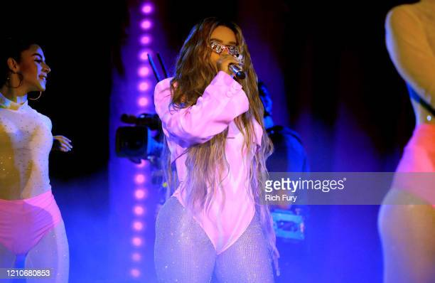 Karol G performs onstage during the 2020 Spotify Awards at the Auditorio Nacional on March 05 2020 in Mexico City Mexico