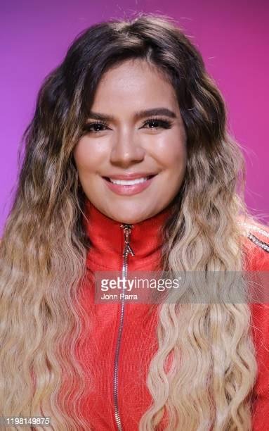 Karol G visits La Musica Studio on January 07 2020 in Miami Florida
