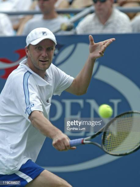 Karol Kucera during his match against Mark Philippoussis in the first round of the 2005 US Open at the USTA National Tennis Center in Flushing New...