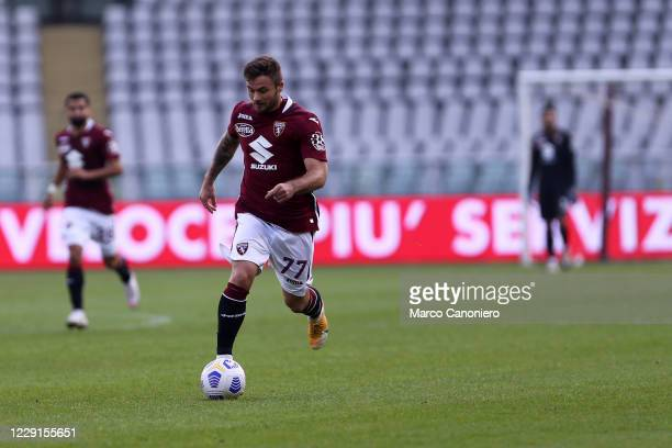 Karol Linetty of Torino FC in action during the Serie A match between Torino Fc and Cagliari Calcio Cagliari Calcio wins 32 over Torino Fc