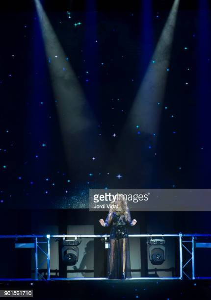 Karol Sevilla performs on stage during Disney show Soy Luna at Palau Sant Jordi on January 5 2018 in Barcelona Spain