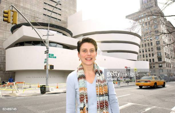 Karol Vail granddaughter of Peggy Guggenheim and curator of the Solomon R Guggenheim Museum stands outside the museum on February 17 2005 in New York...