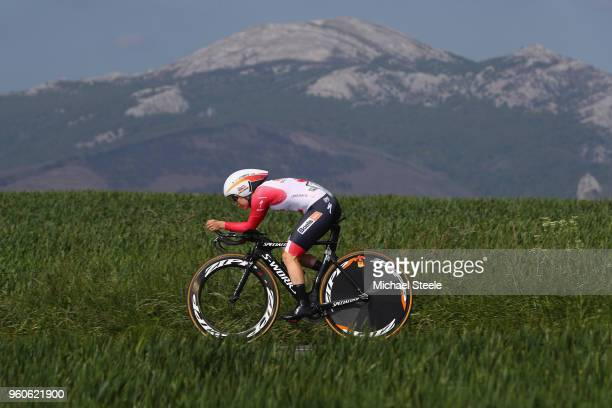 KarolAnn Canuel of Canada and Boels Dolmans Cycling Team during the 31st Women WT EmakumeenBira Stage 2 266km Individual Time Trial from Agurain to...