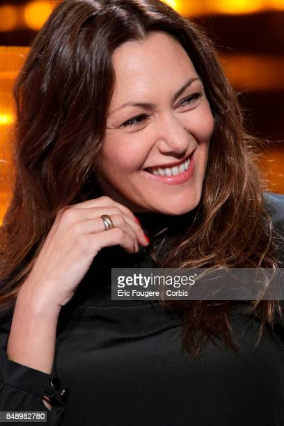 Karole Rocher poses during a portrait session in Paris France on