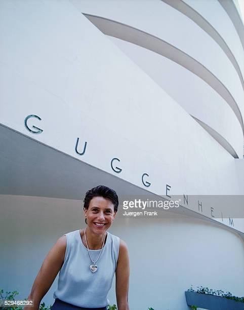 Karole Vail granddaughter of art collector Peggy Guggenheim outside the Solomon R Guggenheim Museum