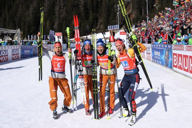 ITA: IBU World Championships Biathlon Antholz-Anterselva - Women 4x6 km Relay Competition