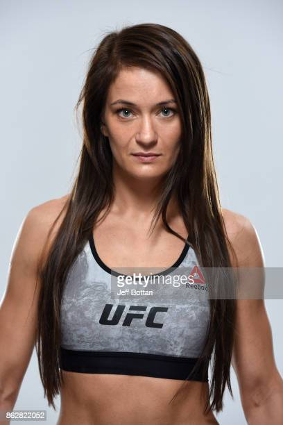 Karolina Kowalkiewicz of Poland poses for a portrait during a UFC photo session on October 18 2017 in Gdansk Poland
