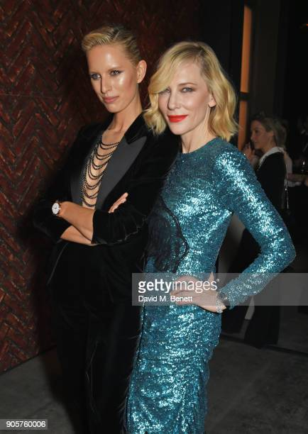 Karolina Kurkova and Cate Blanchett attend the IWC Schaffhausen Gala celebrating the Maison's 150th anniversary and the launch of its Jubilee...