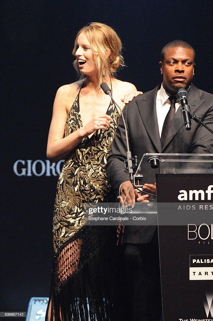 Karolina Kurkova and Chris Tucker attend the '2010 amfAR's Cinema Against AIDS Gala'