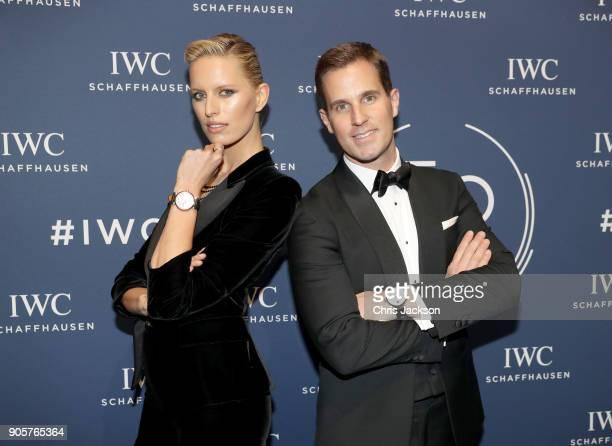 Karolina Kurkova and Christoph GraingerHerr attend the IWC Schaffhausen Gala celebrating the Maison's 150th anniversary and the launch of its Jubilee...