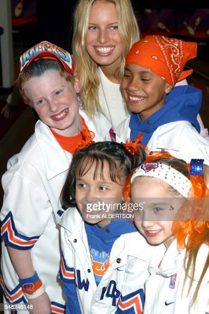 Karolina Kurkova and City Kids at Knicks Bowl 6 to benefit Red Holtzman Cheering for Children Foundation at Chelsea Piers in New York City...