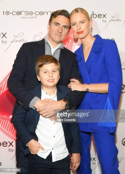 Karolina Kurkova and family Archie Drury and Tobin Drury attend The CYBEX by KAROLINA KURKOVA collection launch event at 10 Corso Como New York on...