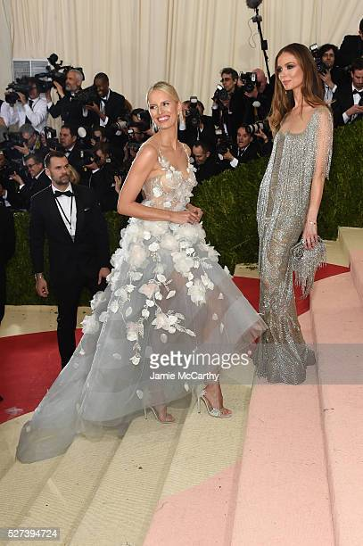 Karolina Kurkova and Georgina Chapman attend the Manus x Machina Fashion In An Age Of Technology Costume Institute Gala at Metropolitan Museum of Art...