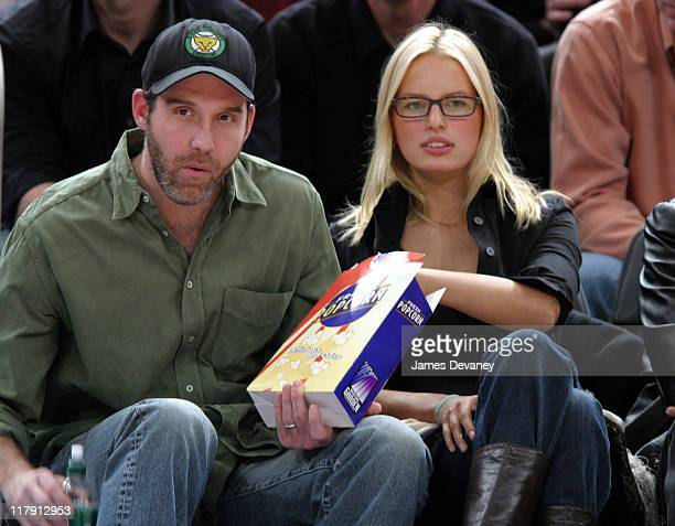 Karolina Kurkova and guest during Celebrities Attend Phoenix Suns vs New York Knicks Game January 25 2005 at Madison Square Garden in New York City...