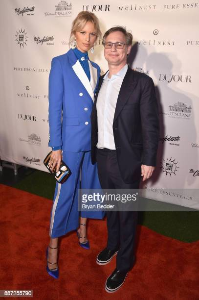 Karolina Kurkova and Jason Binn attend DuJour's Jason Binn And WellNEST Celebrate Miami Beach's Art Basel KickOff at The Confidante on December 6...