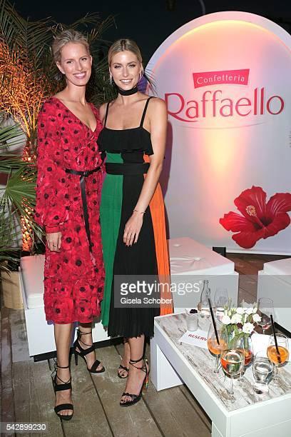 Karolina Kurkova and Lena Gercke during the Raffaello Summer Day 2016 to celebrate the 26th anniversary of Raffaello on June 24 2016 in Berlin Germany