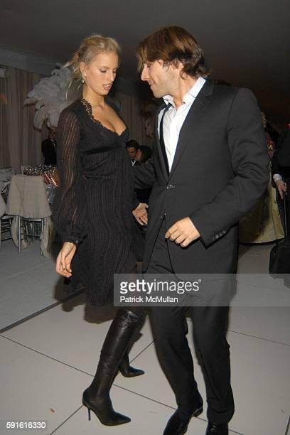 Karolina Kurkova and Roberto Faraone Mennella attend The New York Botanical Garden Winter Wonderland Ball at The New York Botanical Garden on...