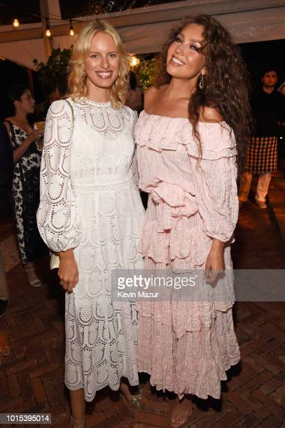 Karolina Kurkova and Thalia attend Apollo in the Hamptons 2018 Hosted by Ronald O Perelman at The Creeks on August 11 2018 in East Hampton New York