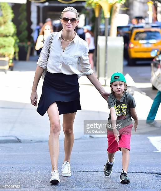 Karolina Kurkova and Tobin Jack Drury are seen on May 3 2015 in New York City