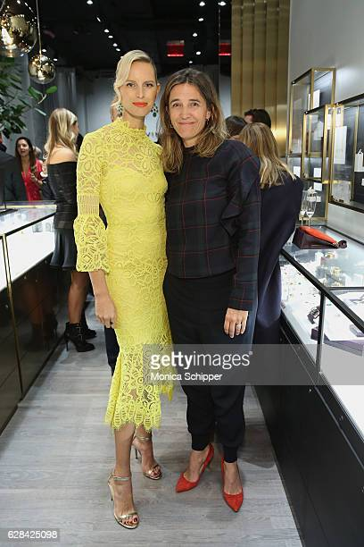 Karolina Kurkova and Vanessa von Bismarck attend an evening hosted by Karolina Kurkova Kate Foley and Monica Vinader to celebrate the opening of...