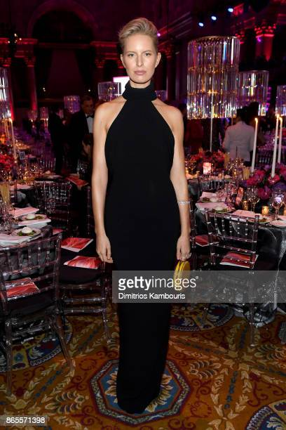 Karolina Kurkova arrives at Gabrielle's Angel Foundation's Angel Ball 2017 at Cipriani Wall Street on October 23 2017 in New York City