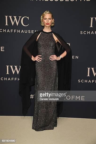 Karolina Kurkova arrives at IWC Schaffhausen at SIHH 2017 'Decoding the Beauty of Time' Gala Dinner on January 17 2017 in Geneva Switzerland