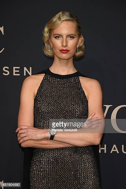 Karolina Kurkova arrives at IWC Schaffhausen at SIHH 2017 'Decoding the Beauty of Time' Gala Dinner on January 17 2017 in Geneva Switzerland