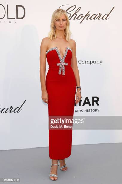 Karolina Kurkova arrives at the amfAR Gala Cannes 2018 at Hotel du CapEdenRoc on May 17 2018 in Cap d'Antibes France