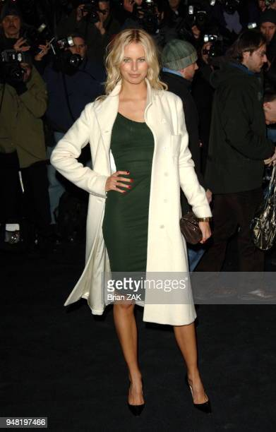 Karolina Kurkova arrives at the Versace boutique cocktail party to celebrate the reopening of the Versace store on Fifth Avenue New York City BRIAN...