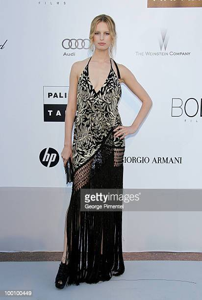 Karolina Kurkova attends amfAR's Cinema Against AIDS Gala at the Hotel Du Cap during the 63rd International Cannes Film Festival on May 20 2010 in...