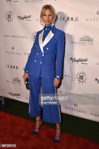 Karolina Kurkova attends DuJour's Jason Binn And WellNEST Celebrate Miami Beach's Art Basel KickOff at The Confidante on December 6 2017 in Miami...