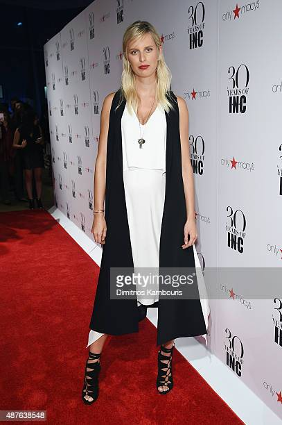 Karolina Kurkova attends Heidi Klum Gabriel Aubry's celebration of the launch of INC's 30th Anniversary Collection at IAC Building on September 10...