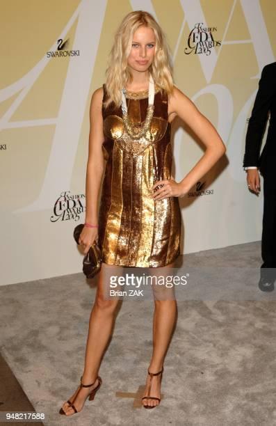Karolina Kurkova attends the 2005 CFDA Awards at the New York Public Library New York City BRIAN ZAK