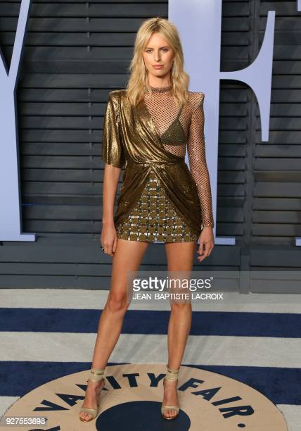 Karolina Kurkova attends the 2018 Vanity Fair Oscar Party following the 90th Academy Awards at The Wallis Annenberg Center for the Performing Arts in...