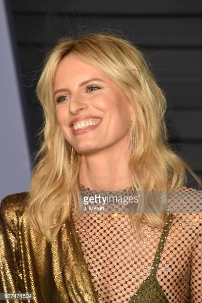 Karolina Kurkova attends the 2018 Vanity Fair Oscar Party hosted by Radhika Jones at the Wallis Annenberg Center for the Performing Arts on March 4...