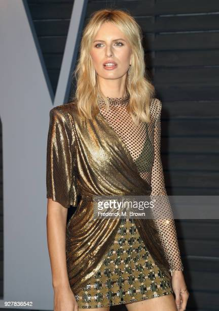 Karolina Kurkova attends the 2018 Vanity Fair Oscar Party hosted by Radhika Jones at Wallis Annenberg Center for the Performing Arts on March 4 2018...