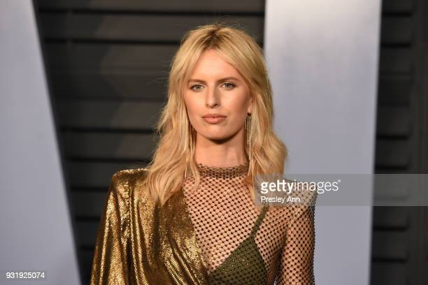 Karolina Kurkova attends the 2018 Vanity Fair Oscar Party Hosted By Radhika Jones Arrivals at Wallis Annenberg Center for the Performing Arts on...