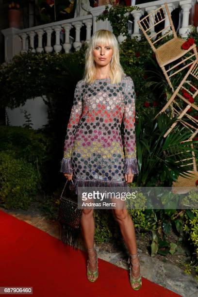 Karolina Kurkova attends the AMORE cocktail reception hosted by Ricardo Rojas and Jim Mannino on the Lemon Lemon Terrace during the 70th Annual...