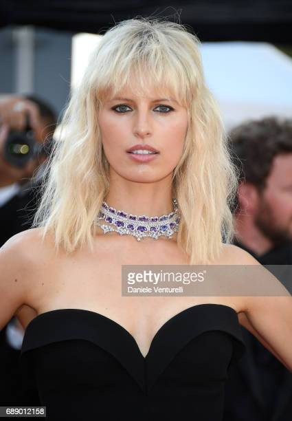 Karolina Kurkova attends the 'Based On A True Story' screening during the 70th annual Cannes Film Festival at Palais des Festivals on May 27 2017 in...