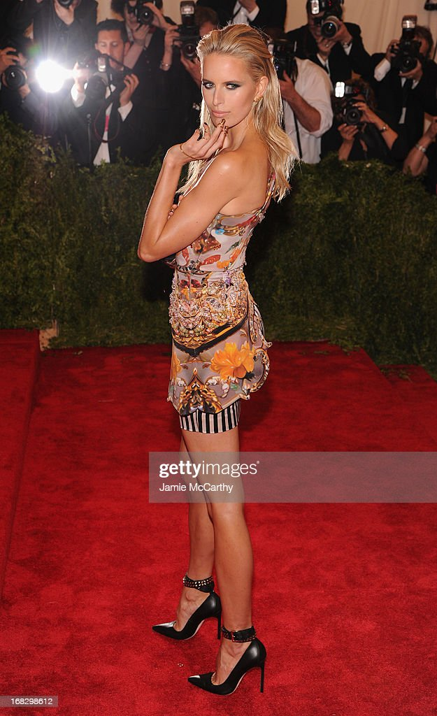 Karolina Kurkova attends the Costume Institute Gala for the 'PUNK: Chaos to Couture' exhibition at the Metropolitan Museum of Art on May 6, 2013 in New York City.