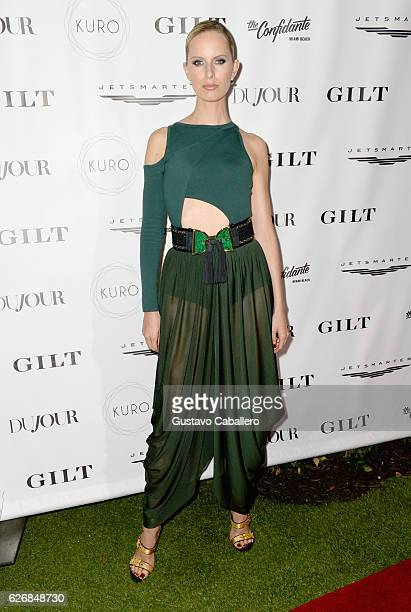 Karolina Kurkova attends the DuJour Media Gilt JetSmarter party to kick off Art Basel at The Confidante on November 30 2016 in Miami Beach Florida