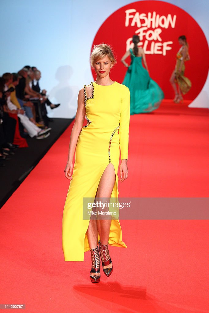 Karolina Kurkova attends the ' Fashion For Relief Japan Fundraiser' during the 64th Annual Cannes Film at Forville Market on May 16, 2011 in Cannes, France.