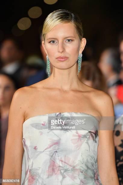 Karolina Kurkova attends the Green Carpet Fashion Awards Italia 2017 during Milan Fashion Week Spring/Summer 2018 on September 24 2017 in Milan Italy