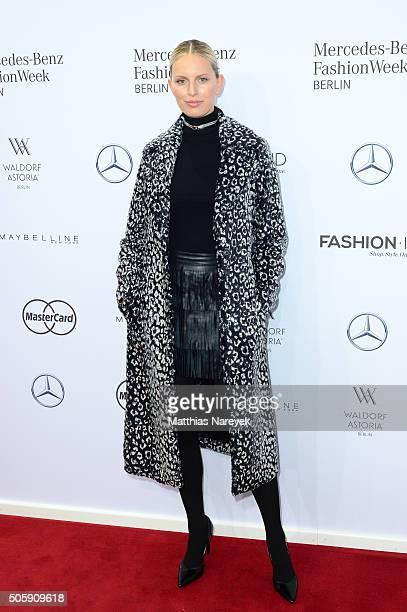 Karolina Kurkova attends the Guido Maria Kretschmer show during the MercedesBenz Fashion Week Berlin Autumn/Winter 2016 at Brandenburg Gate on...