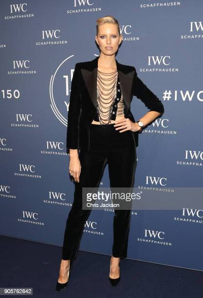 Karolina Kurkova attends the IWC Schaffhausen Gala celebrating the Maison's 150th anniversary and the launch of its Jubilee Collection at the Salon...