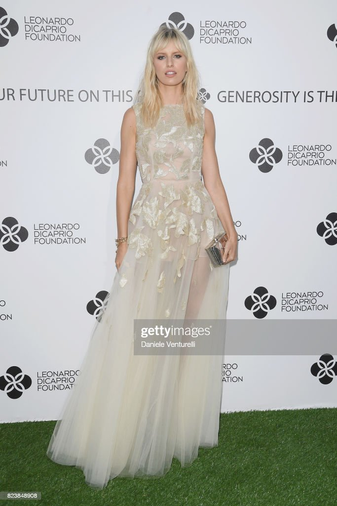 Karolina Kurkova attends the Leonardo DiCaprio Foundation 4th Annual Saint-Tropez Gala at Domaine Bertaud Belieu on July 27, 2017 in Saint-Tropez, France.