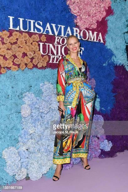 Karolina Kurkova attends the LuisaViaRoma for Unicef event at La Certosa di San Giacomo on July 31, 2021 in Capri, Italy.