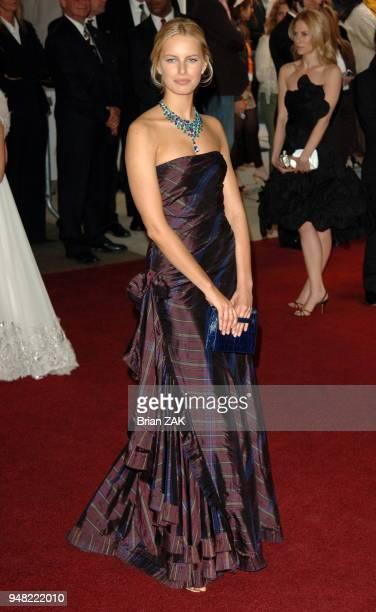 Karolina Kurkova attends the Metropolitan Museum of Art Costume Institute Benefit Gala Anglomania at the Metropolitan Museum of Art New York City...