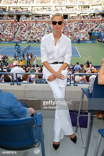 Karolina Kurkova attends the Moet Chandon Suite at The 2014 US Open during the Women's Final at USTA Billie Jean King National Tennis Center on...