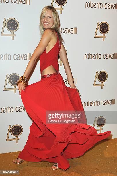Karolina Kurkova attends the Roberto Cavalli party at Les BeauxArts de Paris as part of the Paris Fashion Week Ready To Wear S/S 2011 on September 29...